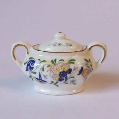 Coalport Bone China Pageant Toy Miniature Sugar Bowl with Lid