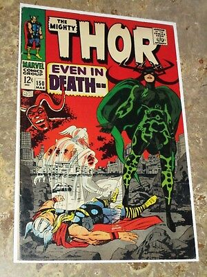 Thor #150 1st First Hela Cover Silver Age Triton appearance Nice Grade Marvel