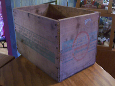 vintage wooden advertising Cook's Imperial American Champagne crate