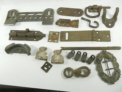 Lot of ANTIQUE / VINTAGE hardware cast iron pcs misc G397