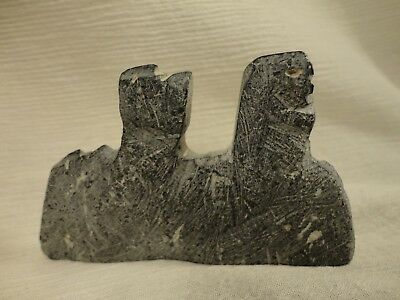 """Inuit Eskimo Art Carving Possibly Lucy Tutsweetok Arviat Master Artist """"3 Faces"""""""