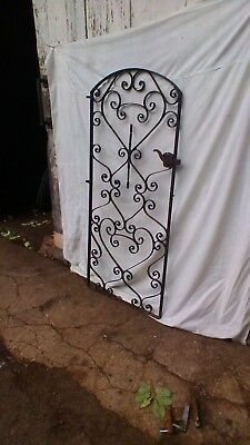 Wrought iron ornamental gate reclaimed