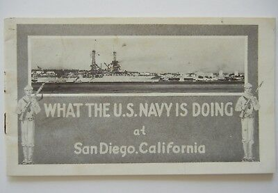 Vtg 1920 What The US NAVY Is Doing at SAN DIEGO Calif BROCHURE Booklet ST&C Bank