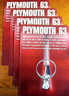 1963 Plymouth Prestige Brochure LOT (4) pcs Fury Belvedere Savoy BIG