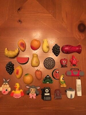 Lot of 26 Vintage Refrigerator Magnets Fruits Appliances and More from the 1970s
