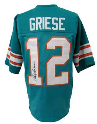 fc97ef626 Bob Griese Miami Dolphins Autographed Signed Teal Jersey JSA 141117