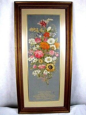 Xrare Historic 1915 Panama Pacific Exposition Exhibit Display Piece Silk Flowers
