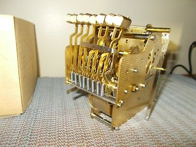 '88 ANSONIA/HERMLE 1051-031A/55cm TRIPLE CHIME 8 DAY MOVEMENT, FACTORY BOX