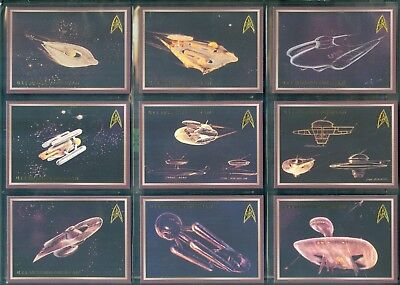 Star Trek TOS 50th Anniversary ( E 1 - 9 ) Enterprise Concept Art Insert Set