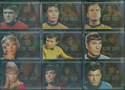 Star Trek TOS 50th Anniversary ( P 1 - 9 ) Bridge Crew Heroes Insert Set