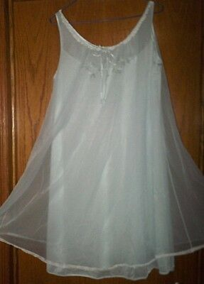 M Vtg FORMFIT ROGERS Double Layer Sheer Chiffon Nightgown Gown Negligee USA