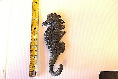 Cast Iron  Seahorse   Hook   Beach House Childrens Room  Pool Garden Hanger