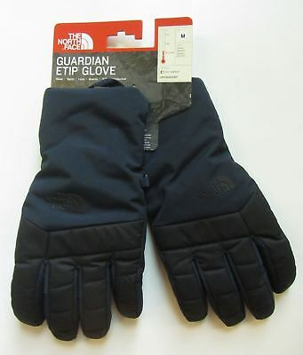 New North Face $50 Guardian Etip Ski Gloves Insulated Touchscreen M Medium Navy