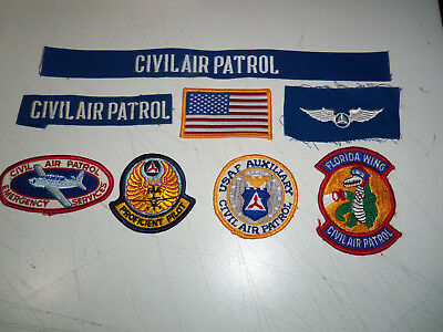 Lot 8 CIVIL AIR PATROL PATCHES Florida Wing EMERGENCY SERVICES USAF Auxiliary
