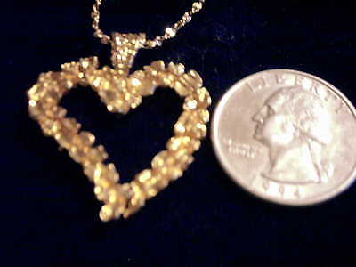 bling gold plated nugget heart FASHION pendant charm hip hop necklace JEWELRY GP