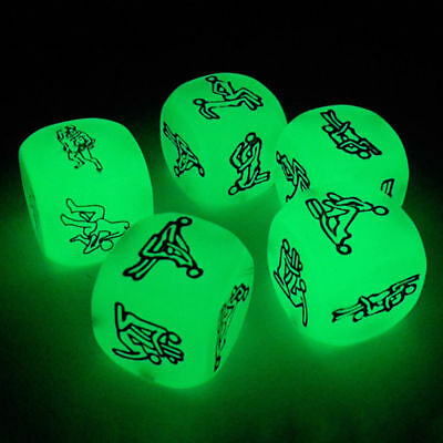 Funny Adult Lovers Luminous Sexy Posture Glow Dice Humour Gambling Game Toy
