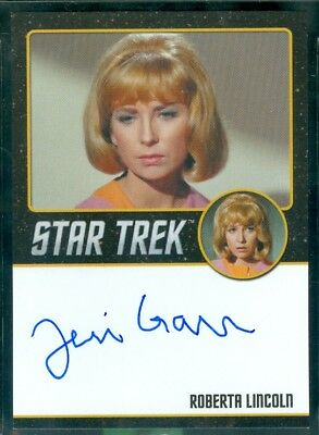 Star Trek Original Series 50th Anniversary Teri Garr as Roberta Lincol Auto Card