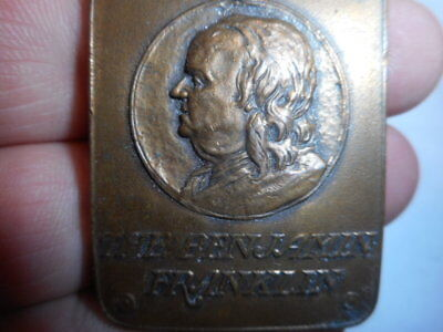 THE BENJAMIN FRANKLIN PHILADELPHIA Hotel Key Fob Vintage Brass No Reserve