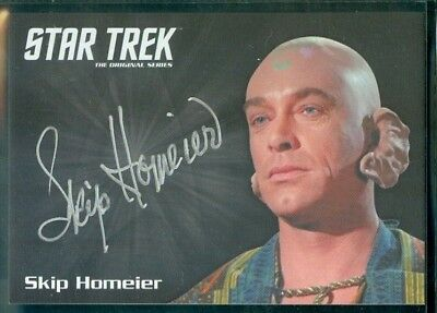 Star Trek Original Series 50th Anniversary Skip Homeier as Dr Sevrin Auto Card