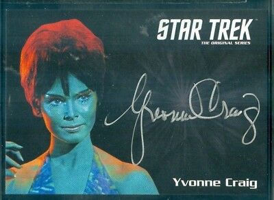 Star Trek Original Series 50th Anniversary Yvonne Craig as Marta Auto Card