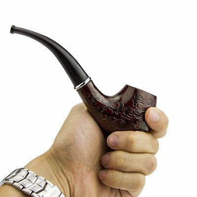 Wooden Wood Enchase Smoking Pipe Tobacco Cigarettes Cigar Pipes Gift Durable