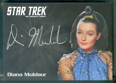 Star Trek Original Series 50th Anniversary Diana Muldaur as Dr Jones  Auto Card