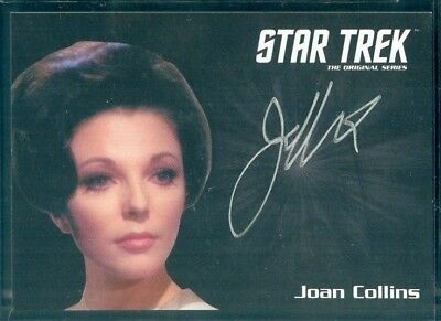 Star Trek Original Series 50th Anniversary Joan Collins as Edith Keel  Auto Card