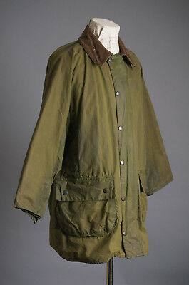 VTG Barbour GAMEFAIR Motorcycle Waxed Jacket Size C42/107cm Made in England