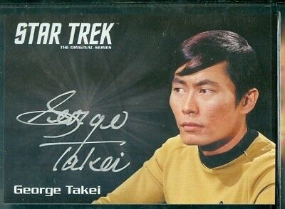 Star Trek Original Series 50th Anniversary George Takei as Sulu Auto Card