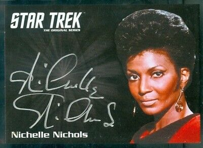 Star Trek Original Series 50th Anniversary Nichelle Nichols as Uhura  Auto Card
