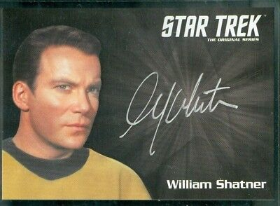 Star Trek Original Series 50th Anniversary William Shatner as Capt Kir Auto Card