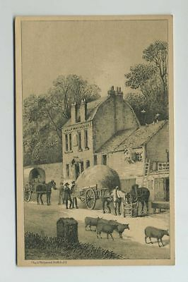 1800's Advertising Trade Card Domestic Sewing Machine Co NY Halfway House wz1676