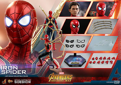 Hot Toys Marvel Avengers Infinity War Iron Spider-Man Sixth Scale Figure New