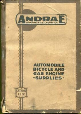 Rare Vtg 1917 Adv Auto/Bicycle/Motorcycle/Gas Engine Supplies Catalog Andrae Co