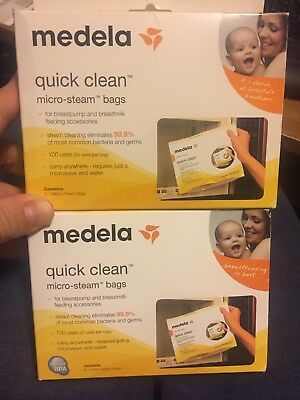 MEDELA - QUICK CLEAN MICRO STEAM BAGS 9 BAGS In Box NEW