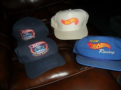 97dc93026d5 4 HAT LOT Collectors National Convention 19th Annual 2005 Hot Wheels BALL  CAPS +