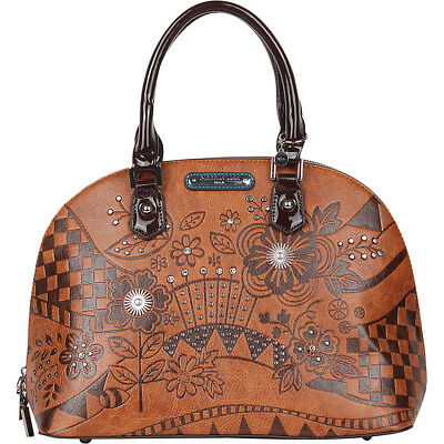Nicole Lee Eriko Floral Engraved Dome Shoulder Bag