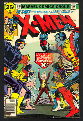 X-Men #100 - Old X-Men vs. New X-Men - Marvel Comics (1976) - VG