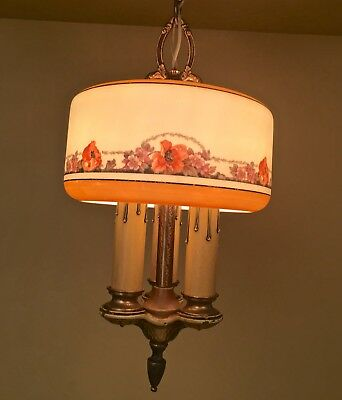 Vintage Lighting extraordinary 1920s Lightolier pendant