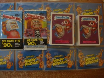 2019 GARBAGE PAIL KIDS WE HATE THE 90'S COMPLETE SET 220 CARDS + BOTH WRAPPERs