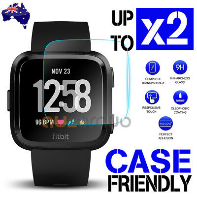 Fitbit Versa/ Versa Lite Screen Protector 9H Tempered Full Coverage Glass Guard