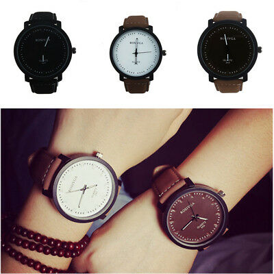 Fashion Aviator Army Dial Scrub Leather Band Sport Men Women Quartz Wtist Watch