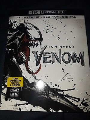 Venom (4K Ultra HD + Blu-ray + Digital, 2018) Factory Sealed with Slipcover!!!