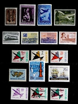 Argentina: 1949-75 Mint Never Hinged Airmail Stamp Collection With Sets