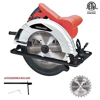"""Toolman 10 Amp 7-1/4"""" Circular Saw with 2 blades and Safety Switch"""