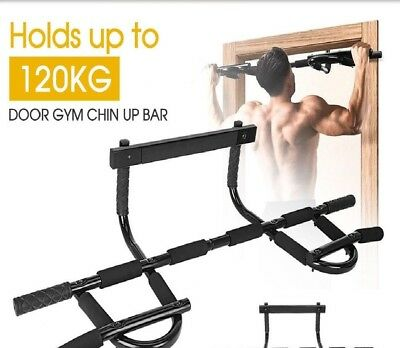 Gym Doorway Portable Chin Up Bar Chinup Pullup Exercise Door Station
