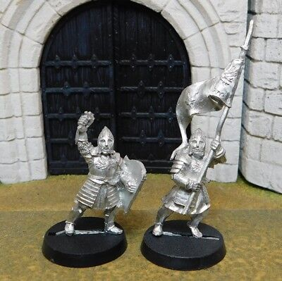 MINAS TIRITH BANNER BEARER & CAPTAIN - Lord Of The Rings Metal Figure(s)