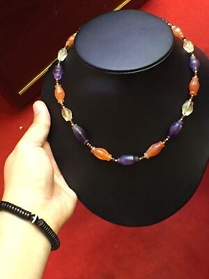 Old Roman Ancient Crystal Agate  Beads Mixed Nacklaces Have Mixed Colors
