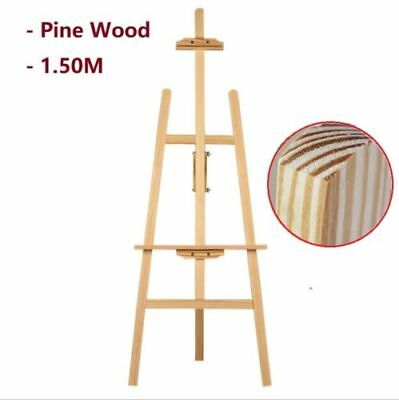 150cm Pine Wood Easel Artist Art Display Painting Shop Tripod Stand Adjustable