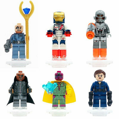 6 Sets Super Heroes Minifigures Vision ULTRON Iron man Nick Heroes Block Toys